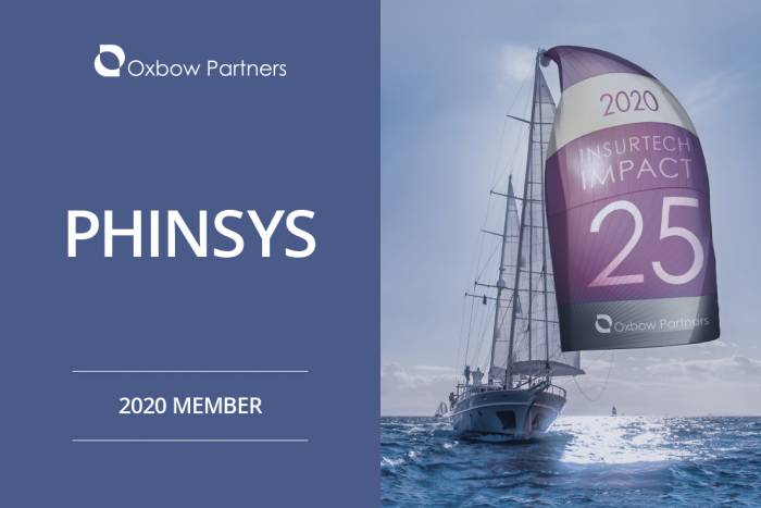 Phinsys selected as a 2020 Member of the OxBow Partners InsurTech Impact25 report