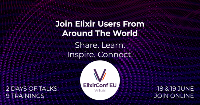 Speakers and Schedule Announced for ElixirConf EU Virtual