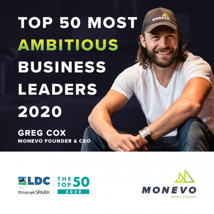 Monevo Founder & CEO Greg Cox in Top 50 Most Ambitious Business Leaders
