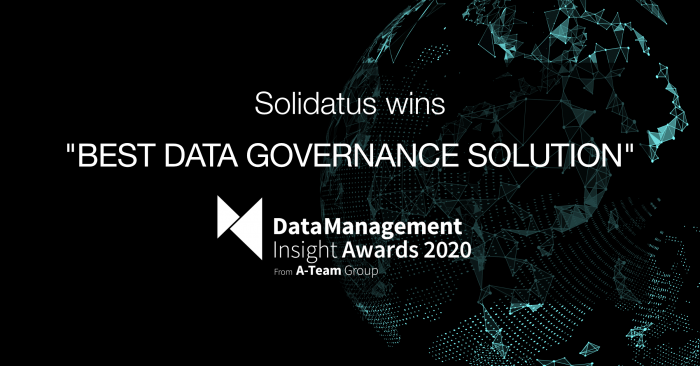 """Solidatus wins """"Best Data Governance Solution"""" at Data Management Insights Awards 2020"""