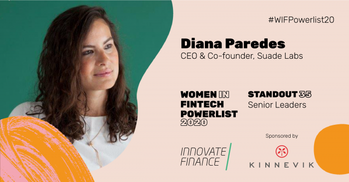 Suade Labs' CEO named as a 'Standout 35' on Innovate Finance's Women in FinTech Powerlist