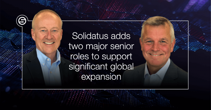 Solidatus Adds Two Major Senior Roles To Support Significant Global Expansion