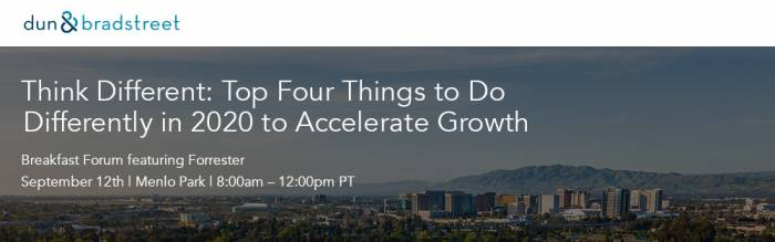 Think Different: Top Four Things to Do Differently in 2020 to Accelerate Growth Breakfast Forum featuring Forrester