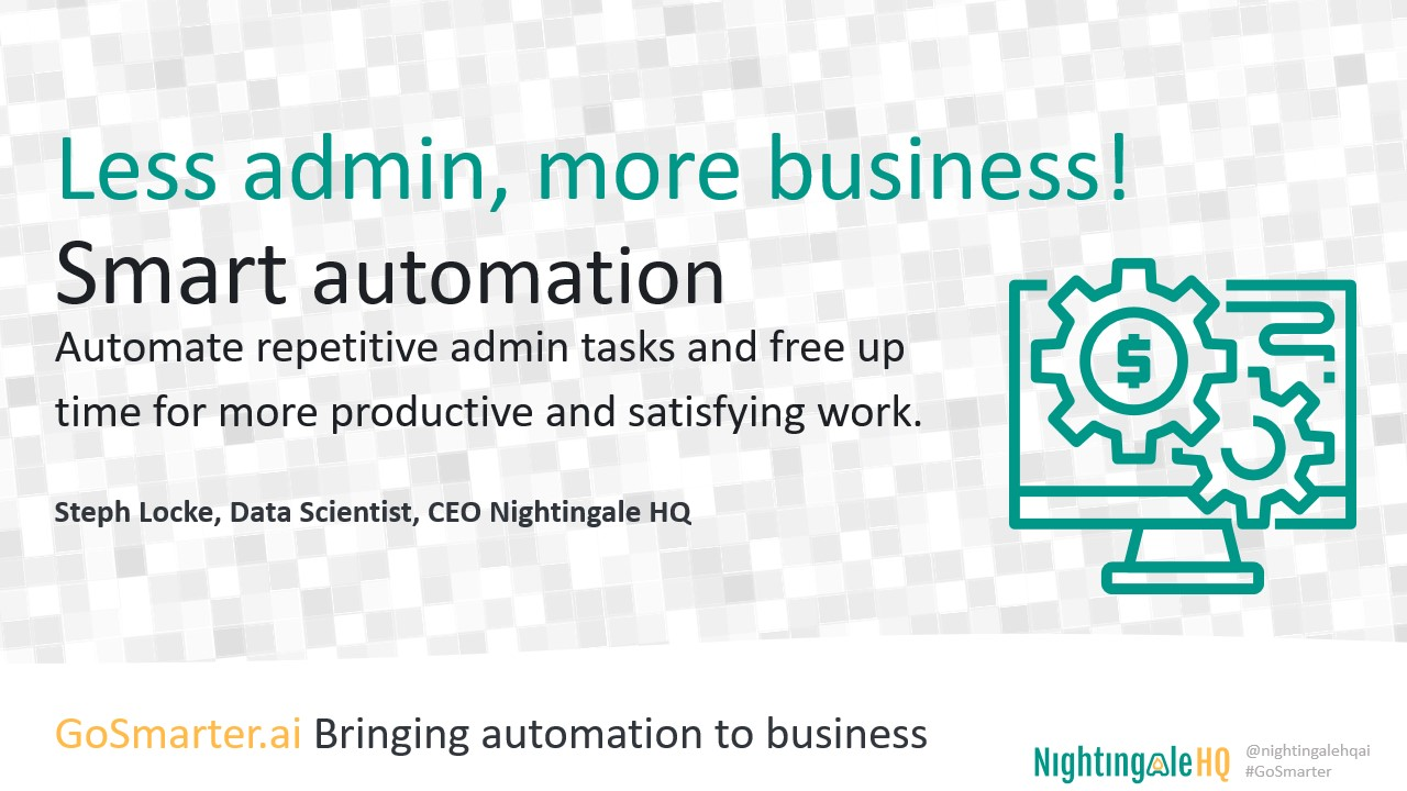 Less admin, More business with Smart Automation (GoSmarter.ai Series)
