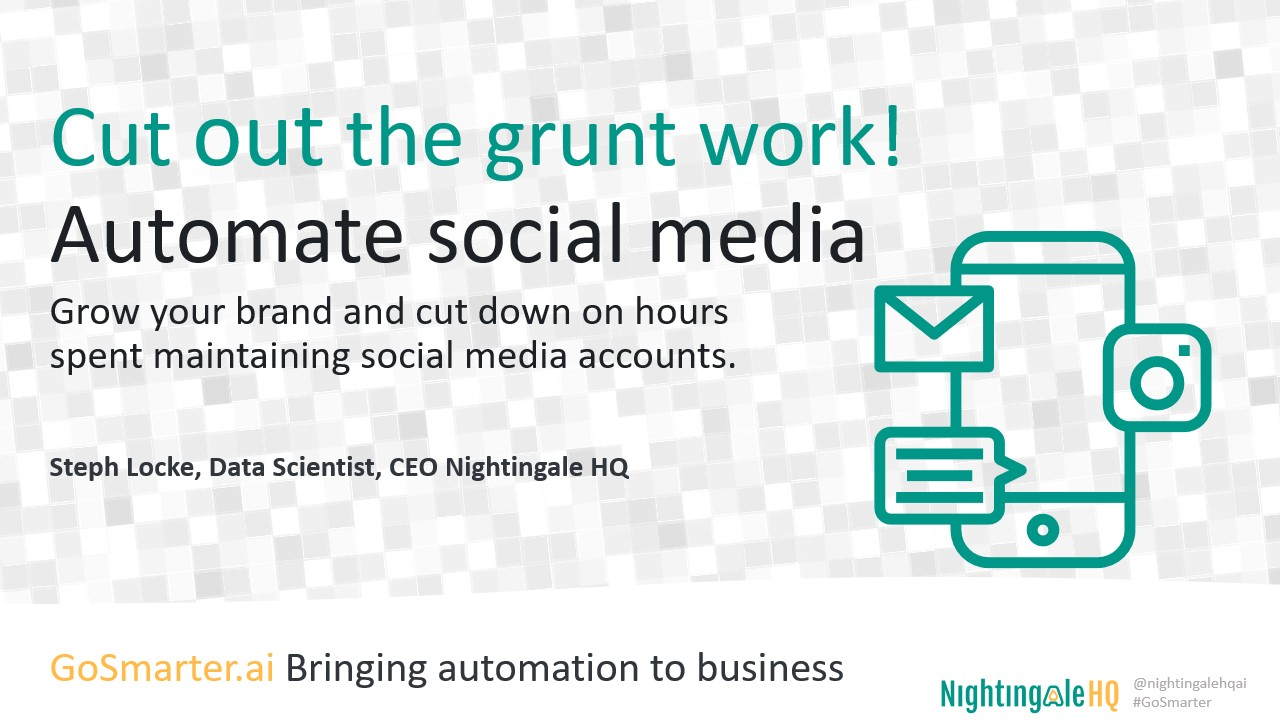 Cut out the Grunt Work and Automate your Social Media (GoSmarter.ai Series)