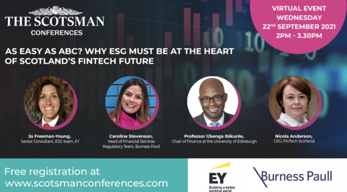 As easy as ABC? Why ESG must be at the heart of Scotland's fintech future