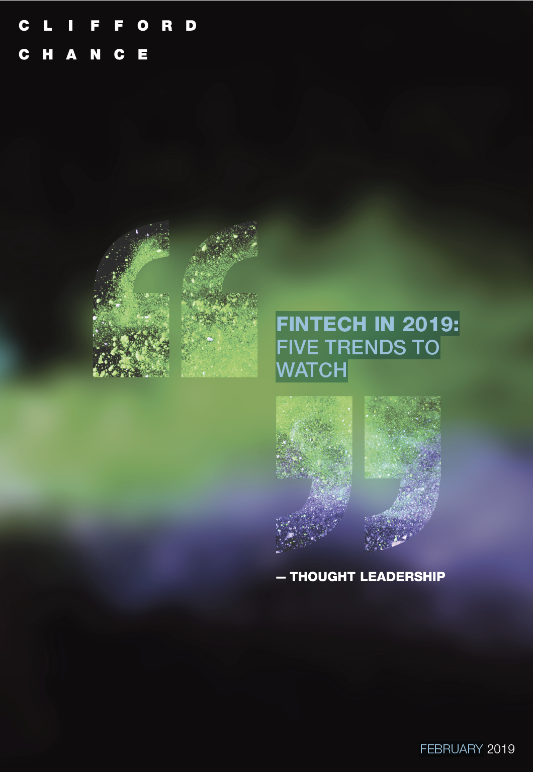 Fintech in 2019 – Five trends to watch