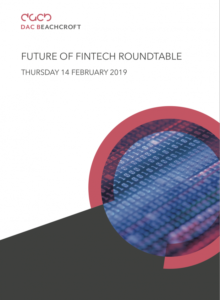 Future of FinTech Roundtable