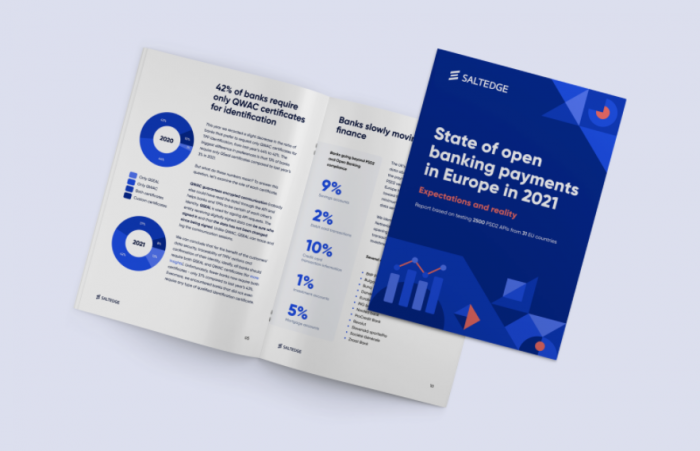 Salt Edge report: State of open banking payments in Europe in 2021